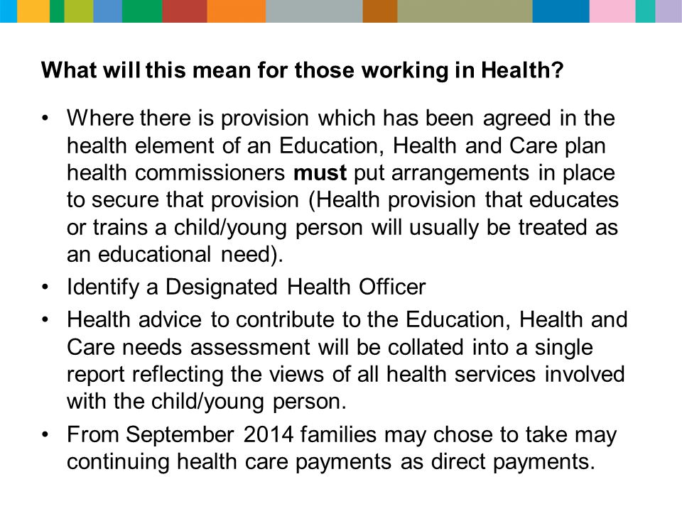 What will this mean for those working in Health