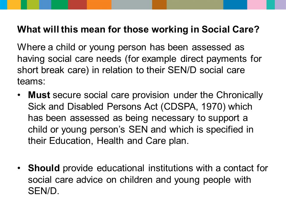 What will this mean for those working in Social Care