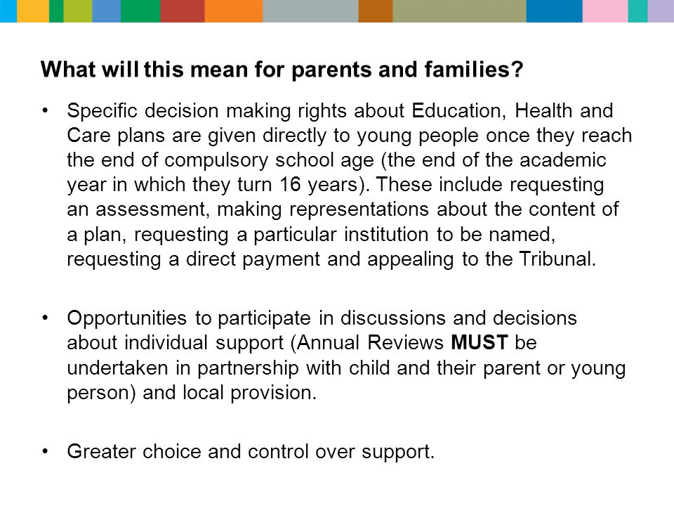 What will this mean for parents and families