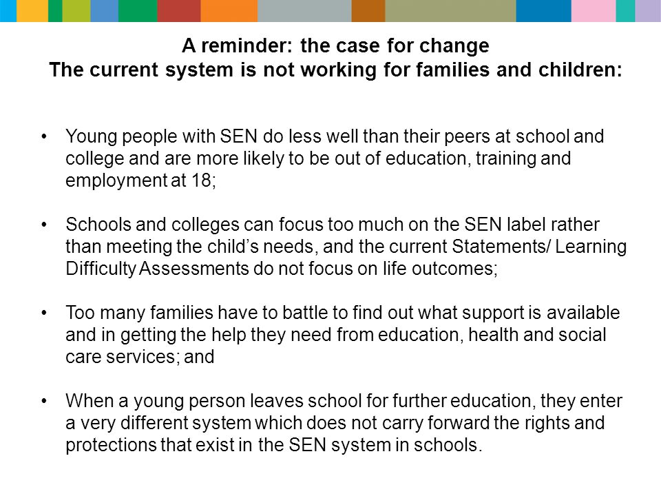 The current system is not working for families and children: