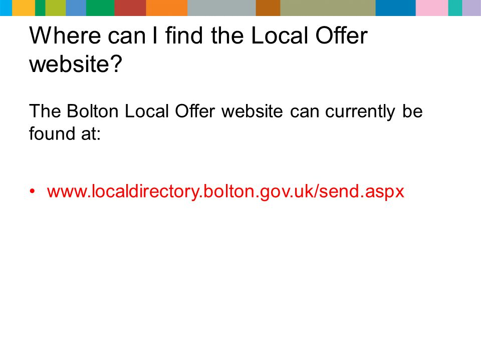Where can I find the Local Offer website