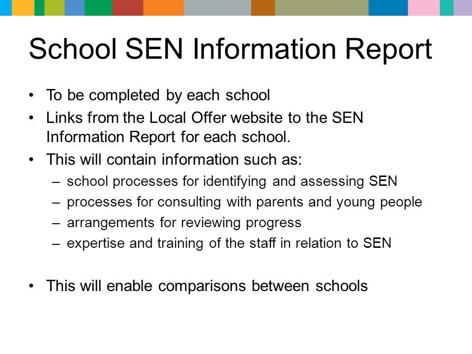 School SEN Information Report
