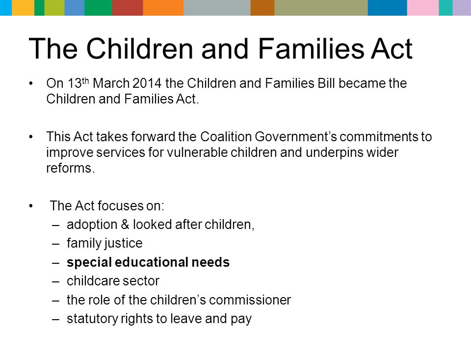 The Children and Families Act