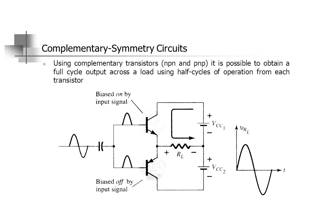 Complementary-Symmetry Circuits