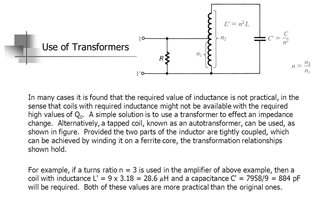 Use of Transformers