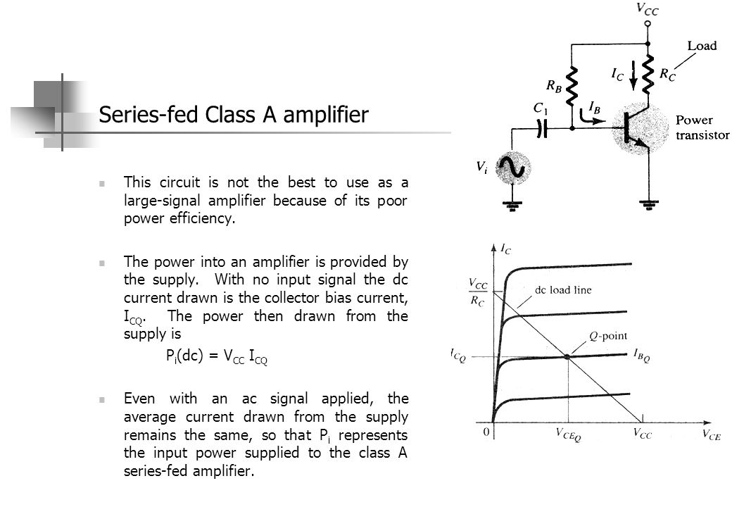 Series-fed Class A amplifier