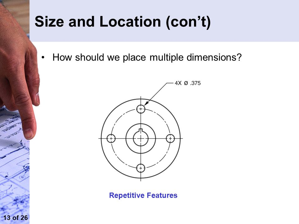 Size and Location (con't)