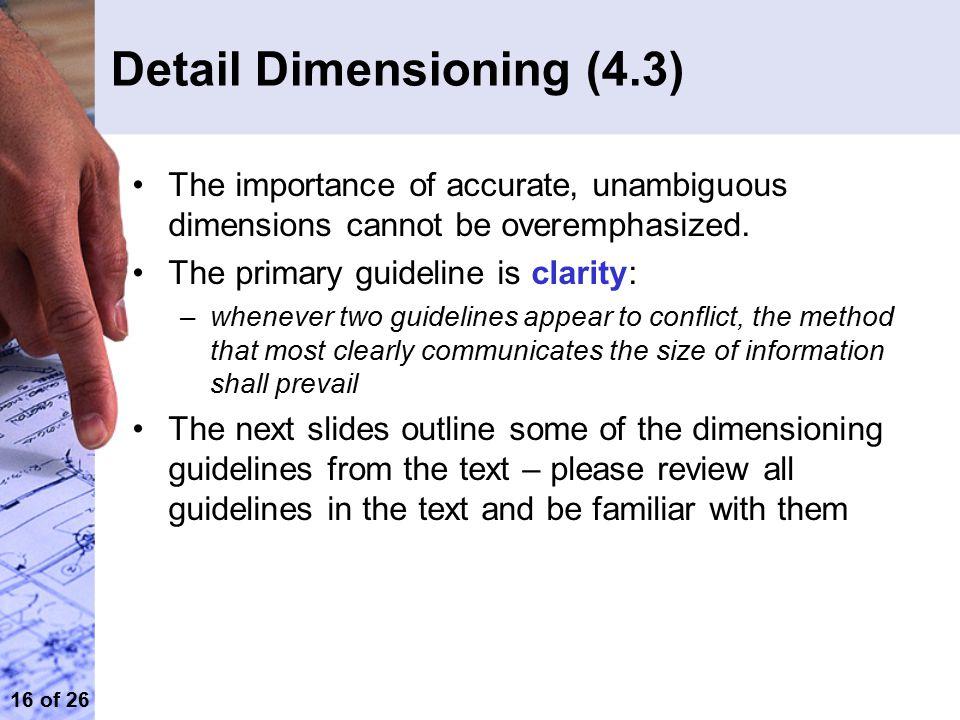 Detail Dimensioning (4.3)