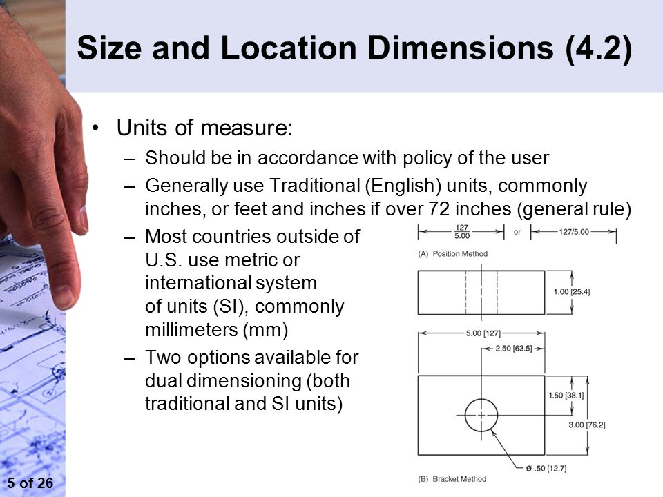 Size and Location Dimensions (4.2)
