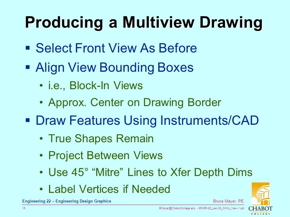 Producing a Multiview Drawing
