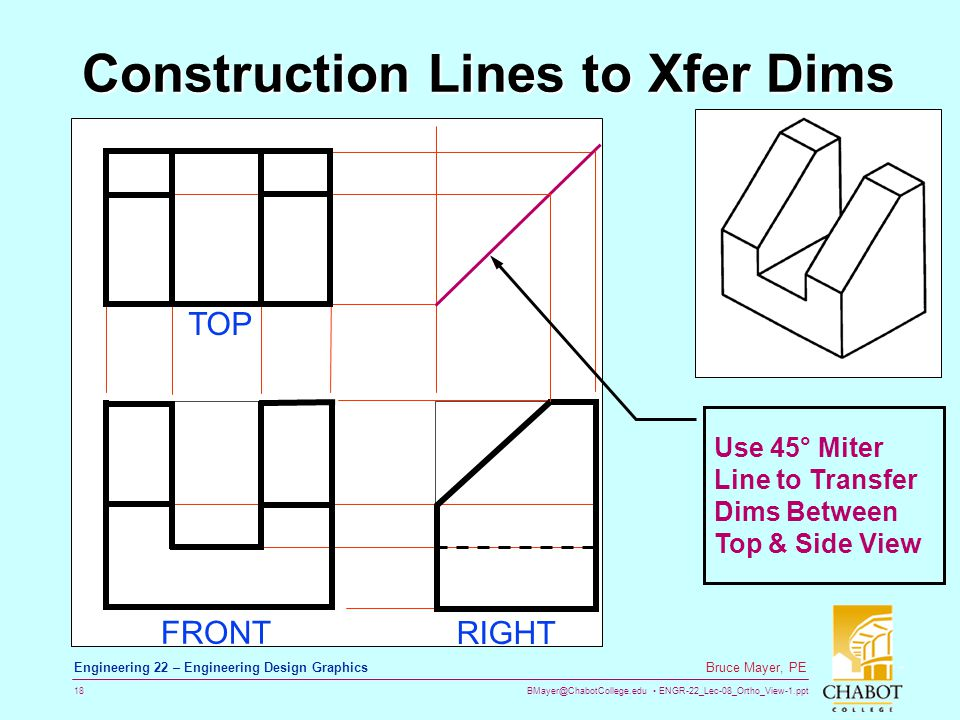 Construction Lines to Xfer Dims