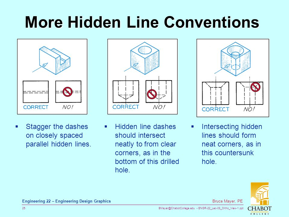 More Hidden Line Conventions