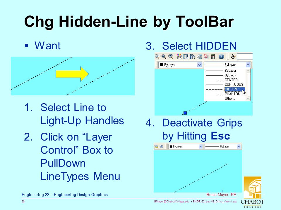 Chg Hidden-Line by ToolBar