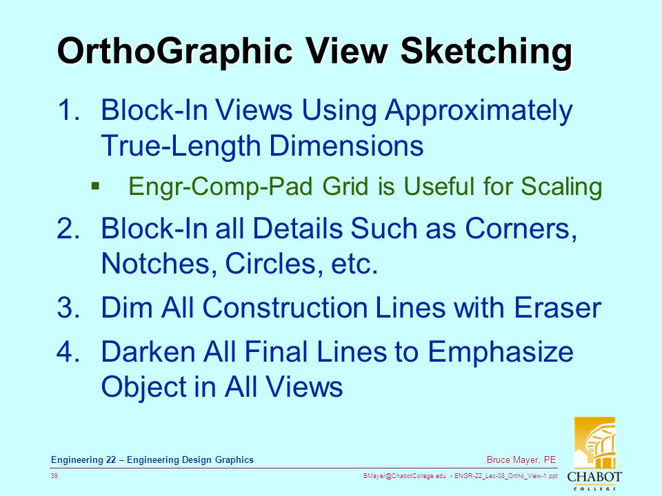 OrthoGraphic View Sketching