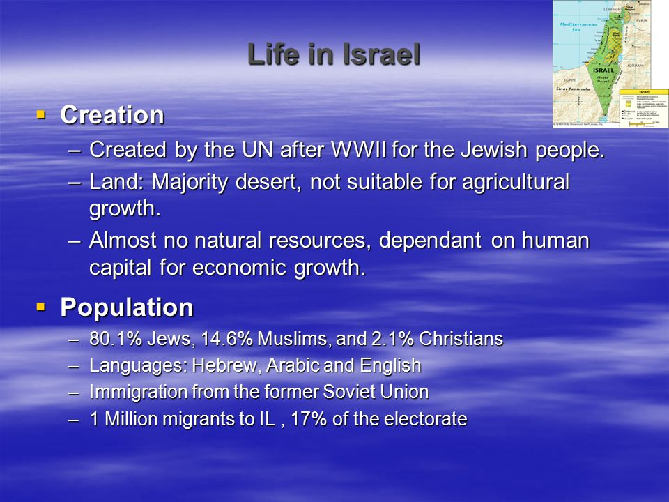 Life in Israel Creation Population