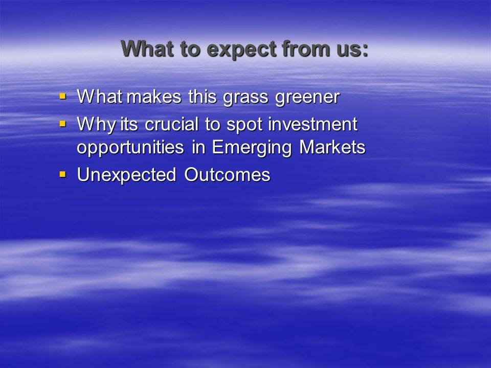 What to expect from us: What makes this grass greener