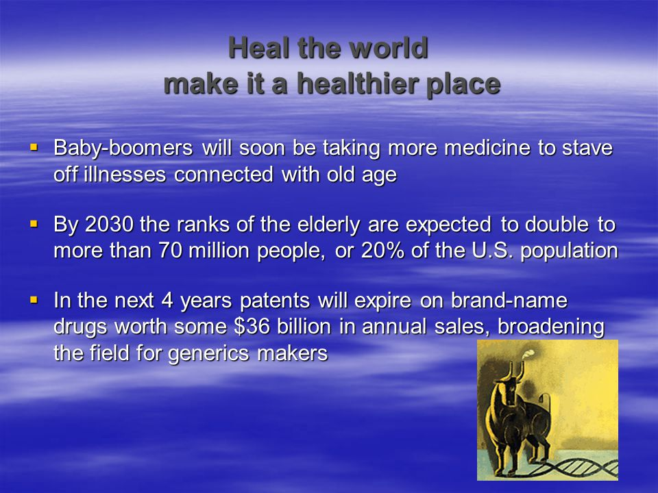 Heal the world make it a healthier place