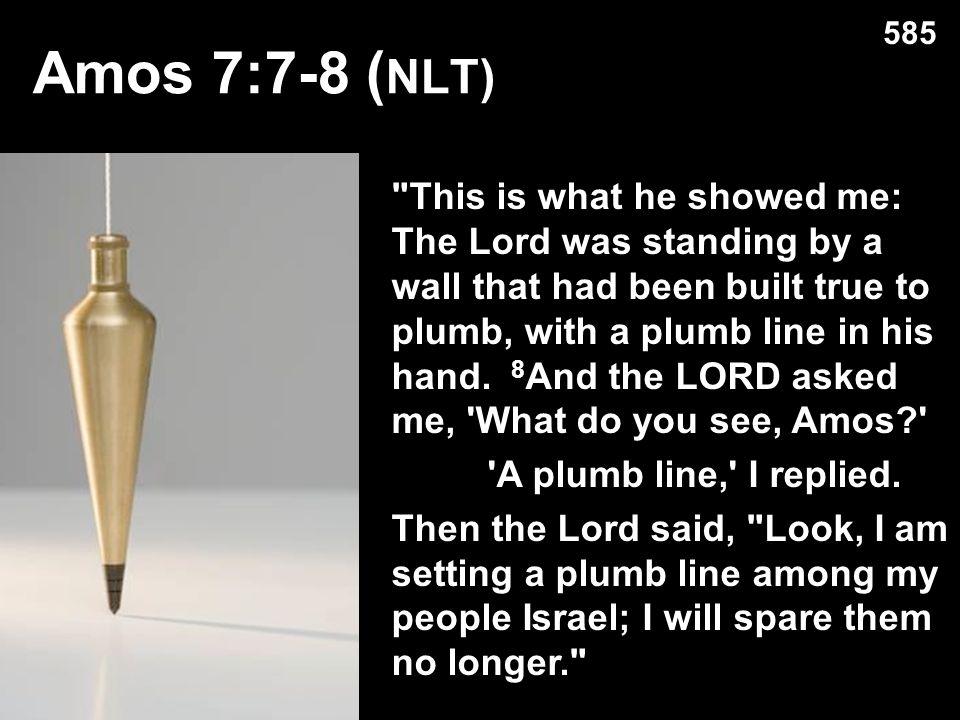 585 Amos 7:7-8 (NLT)