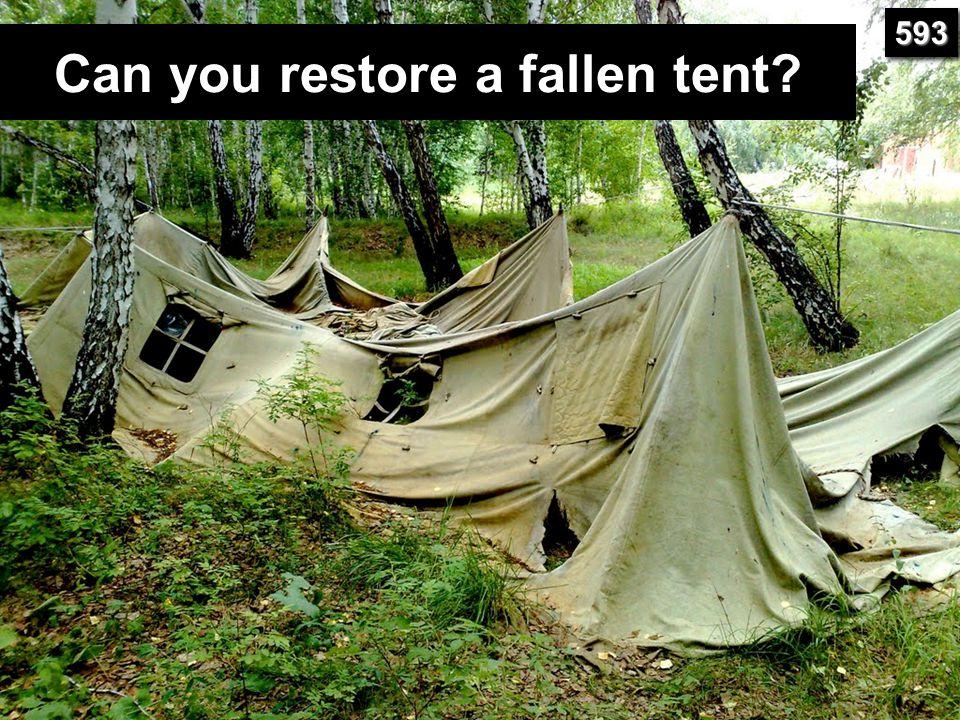 Can you restore a fallen tent