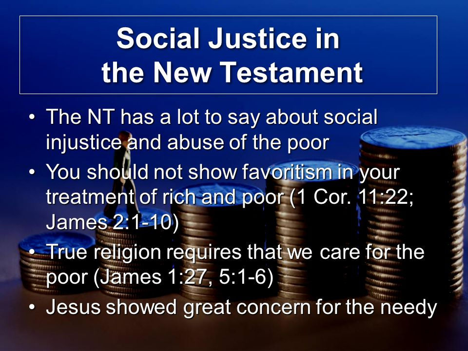 Social Justice in the New Testament