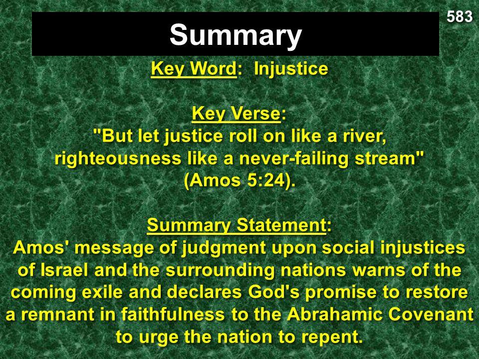 Summary Key Word: Injustice