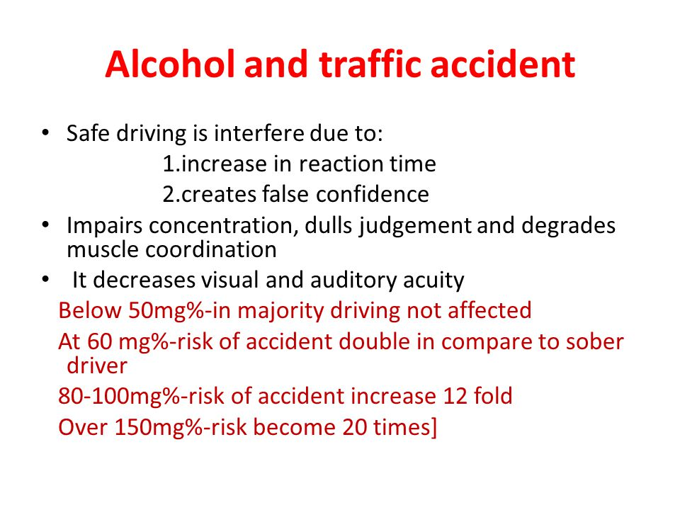 Alcohol and traffic accident