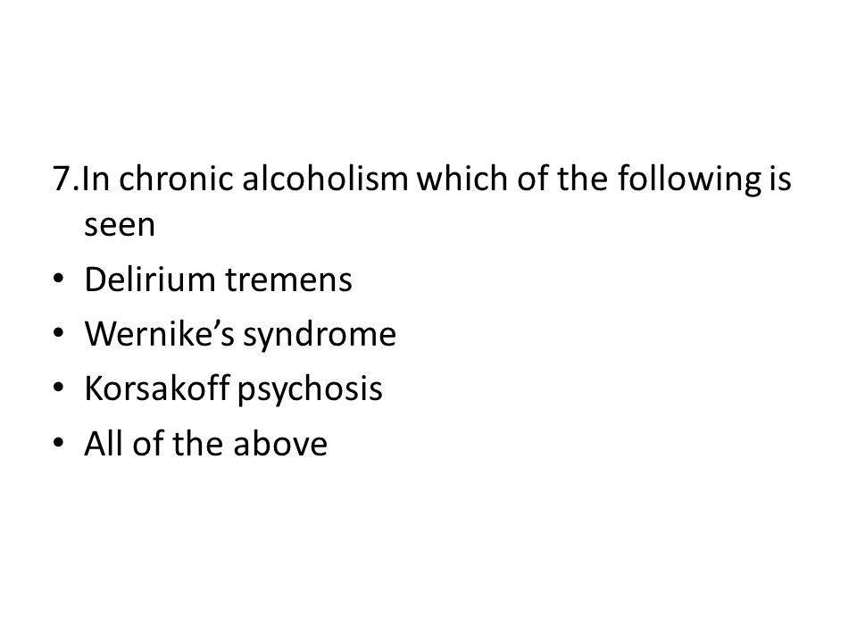 7.In chronic alcoholism which of the following is seen