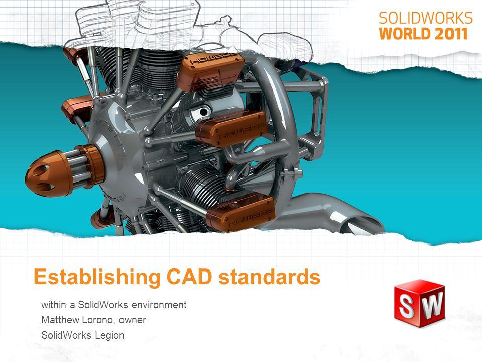 Establishing CAD standards