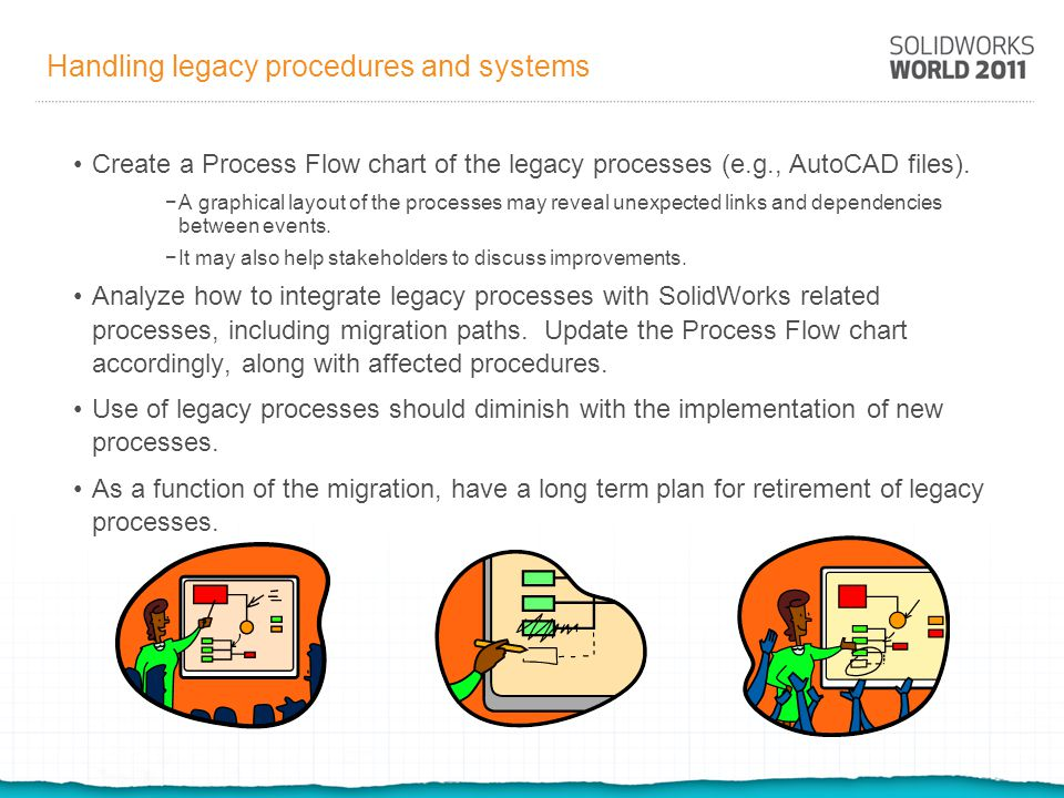 Handling legacy procedures and systems