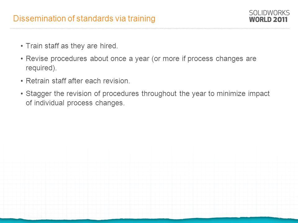 Dissemination of standards via training