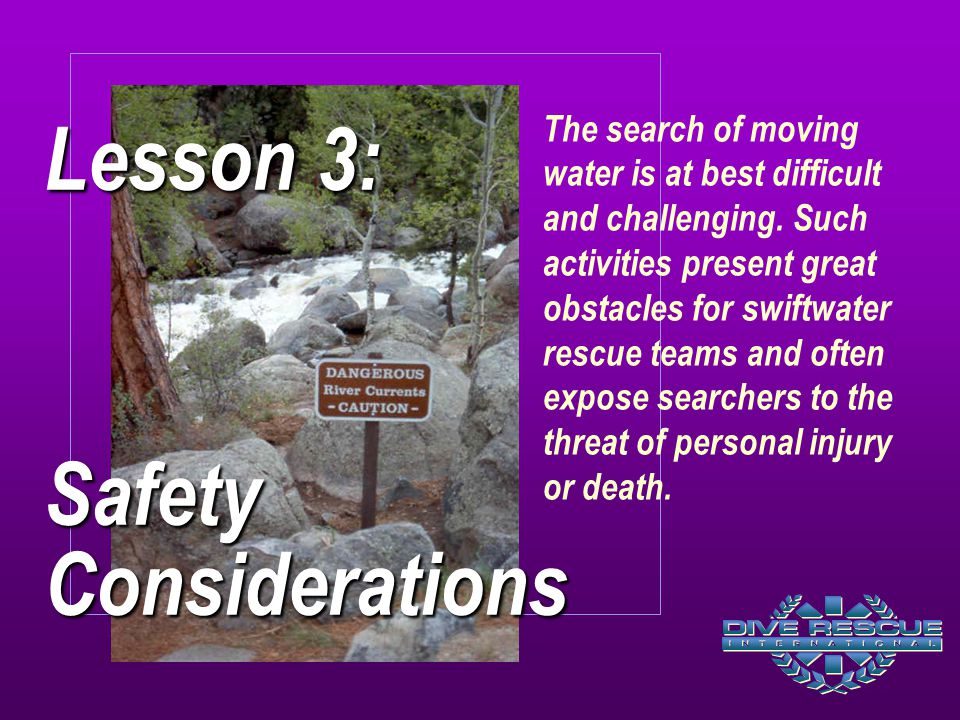 Lesson 3: Safety Considerations