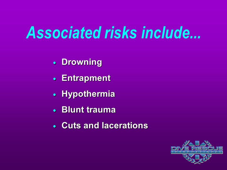 Associated risks include...