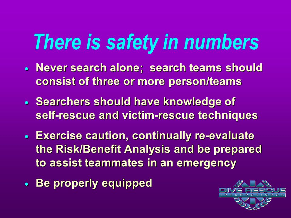 There is safety in numbers