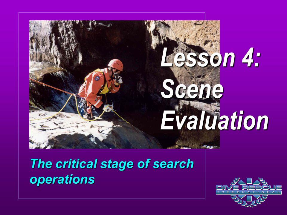 Lesson 4: Scene Evaluation