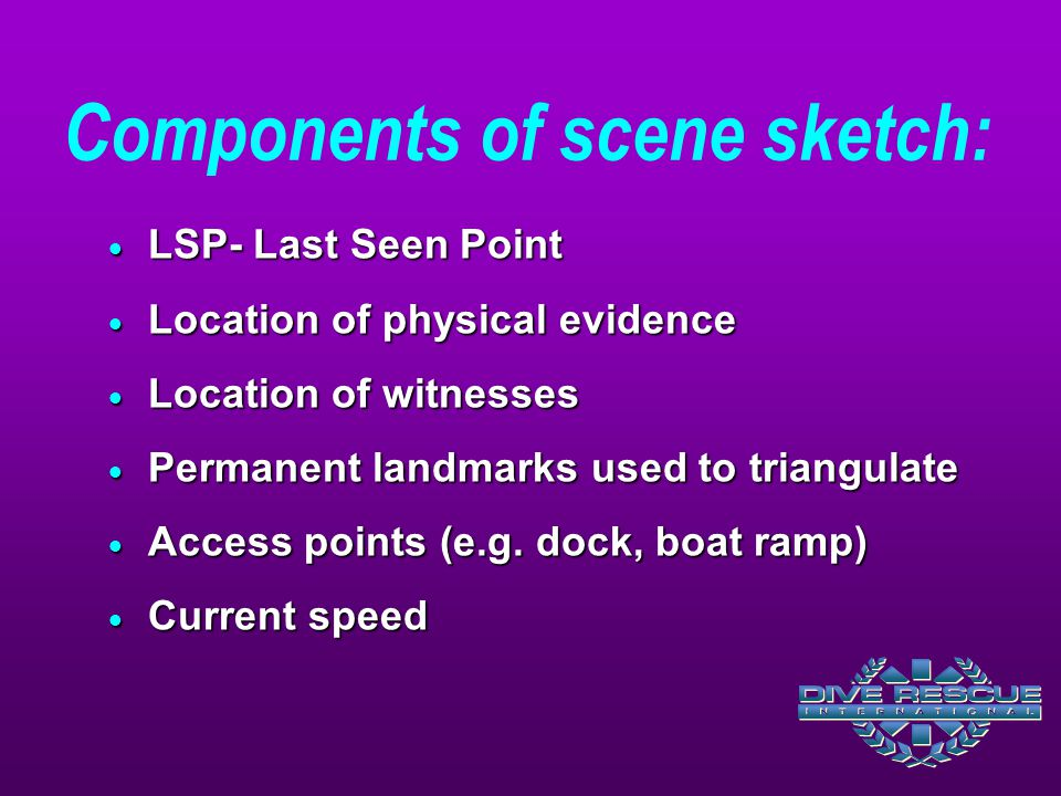 Components of scene sketch: