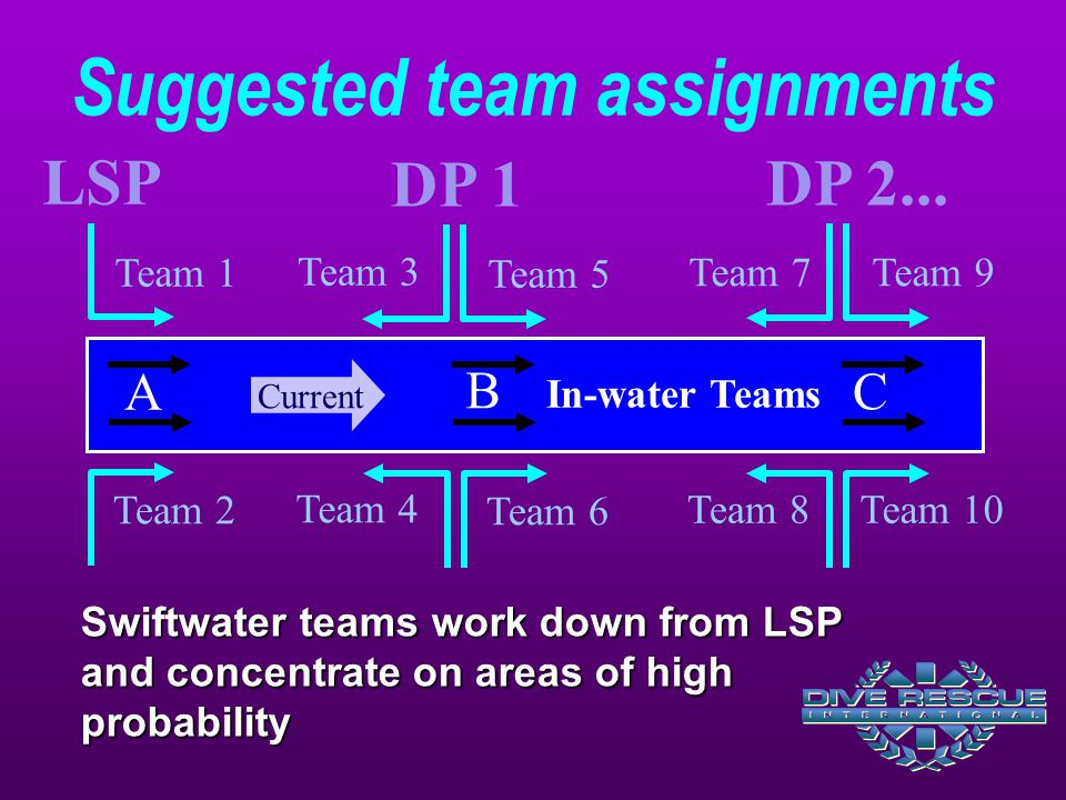 Suggested team assignments