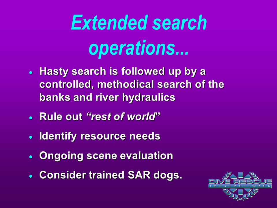 Extended search operations...