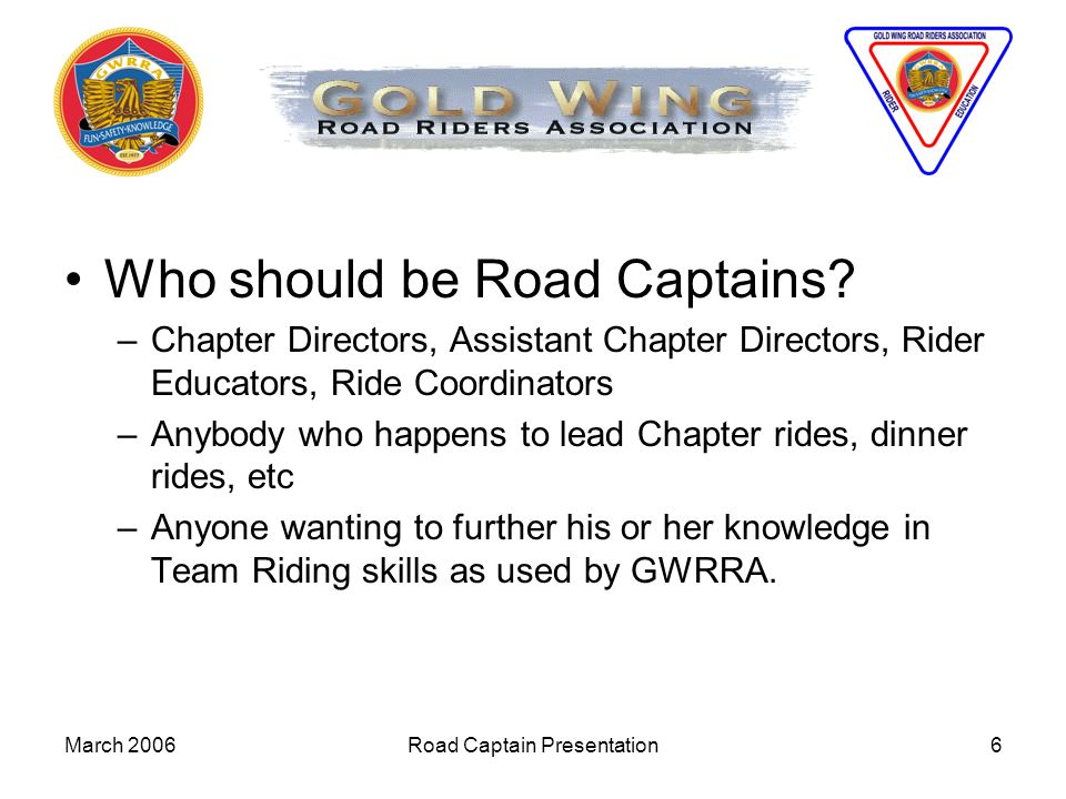 Road Captain Presentation