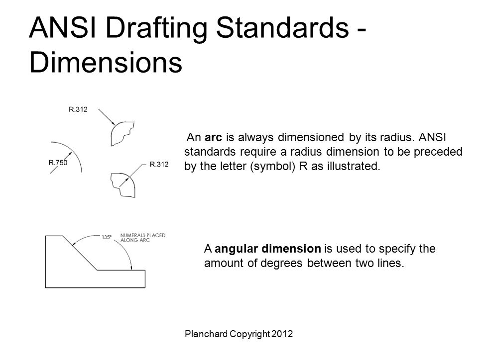 ANSI Drafting Standards - Dimensions
