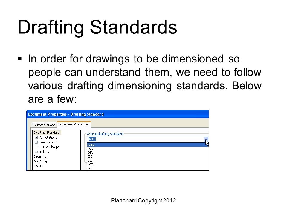 Drafting Standards