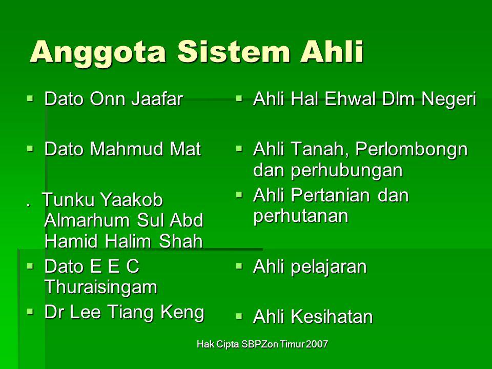 Anggota Sistem Ahli Dato Onn Jaafar Dato Mahmud Mat
