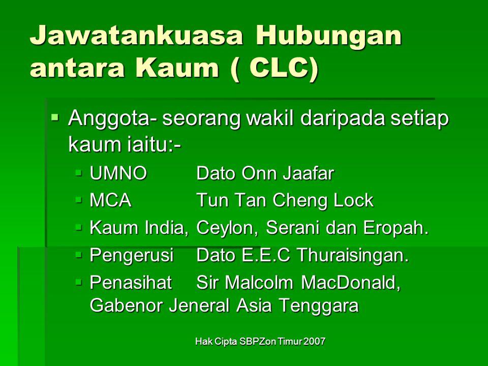 Jawatankuasa Hubungan antara Kaum ( CLC)