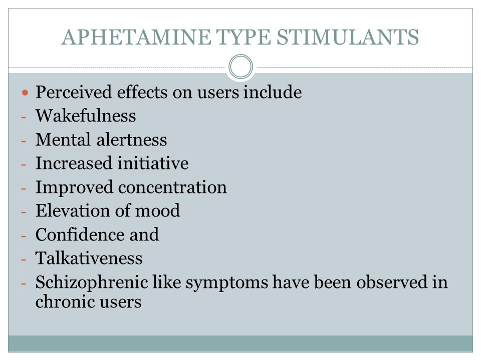 APHETAMINE TYPE STIMULANTS