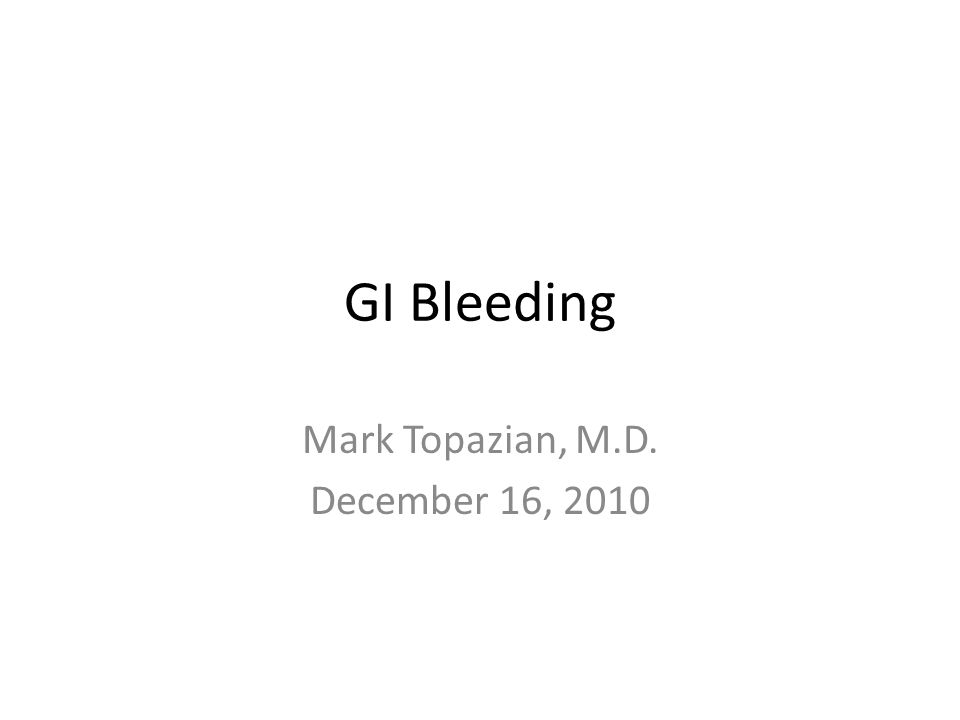 Mark Topazian, M.D. December 16, 2010