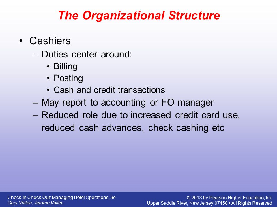 The Organizational Structure