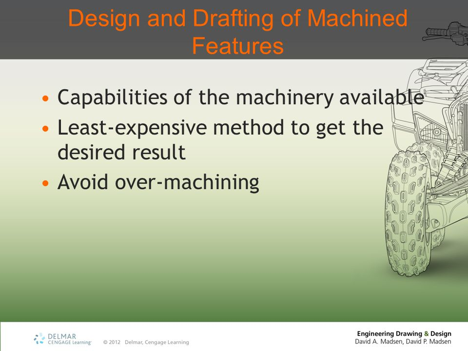 Design and Drafting of Machined Features