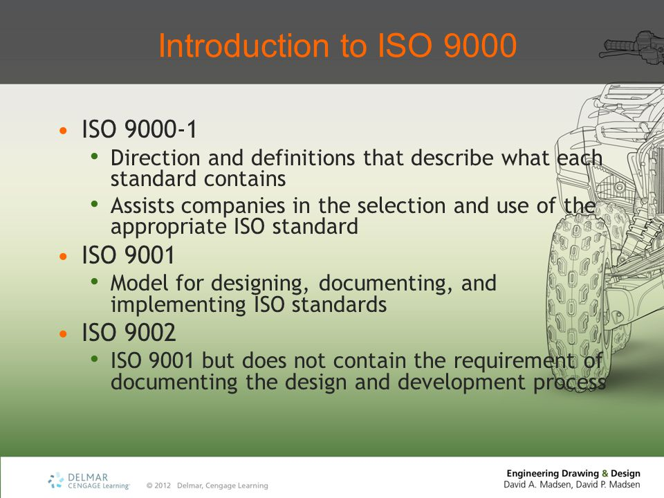 Introduction to ISO 9000 ISO 9000-1 ISO 9001 ISO 9002