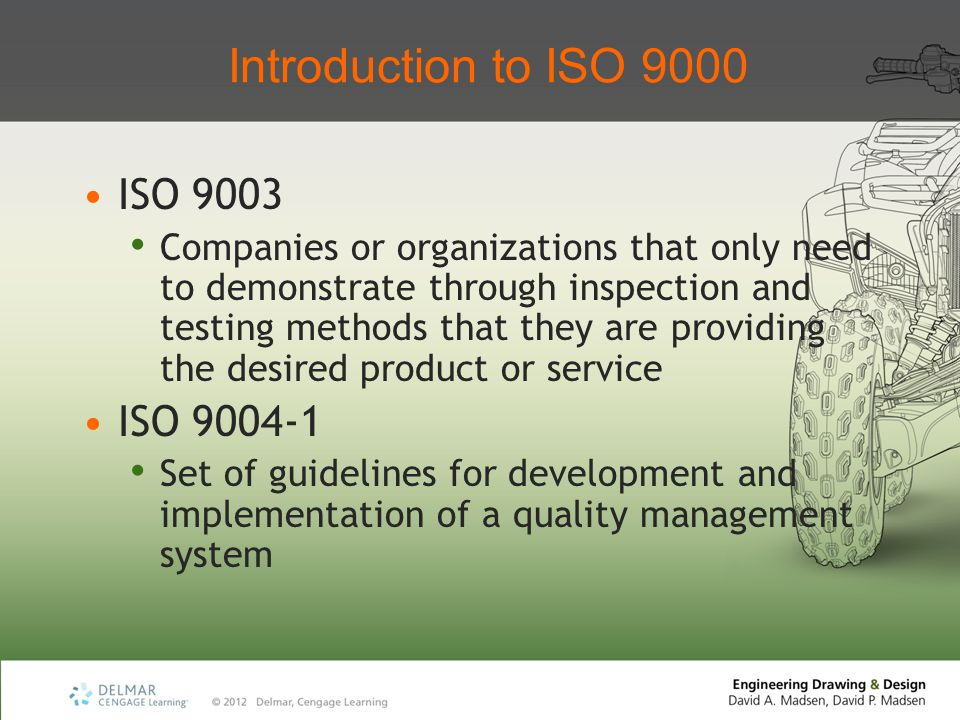 Introduction to ISO 9000 ISO 9003 ISO 9004-1