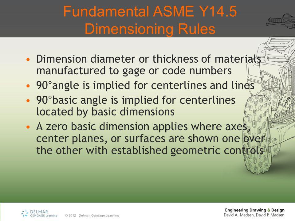 Fundamental ASME Y14.5 Dimensioning Rules