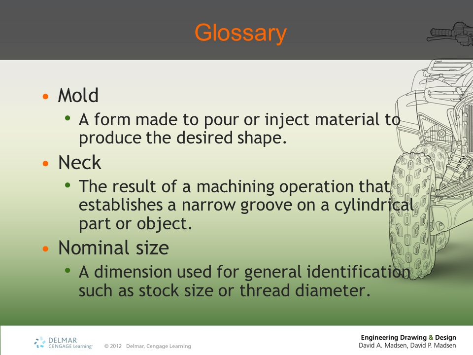 Glossary Mold Neck Nominal size